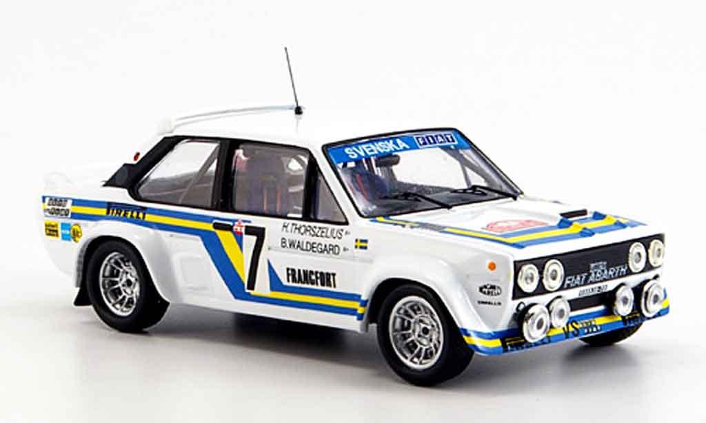 Fiat 131 1/43 IXO Abarth No.7 Waldgegard Thoreszelius 1980 diecast
