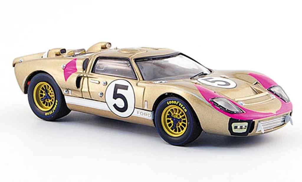 Ford GT 40 1/43 IXO MK II No.5 Bucknum  Hutcherson Dritter Le Mans 1966 miniatura