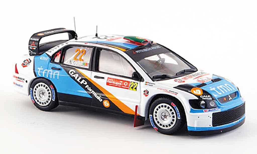 Mitsubishi Lancer Evolution IX 1/43 IXO WRC No. 22 Rallye Portugal 2007 miniature