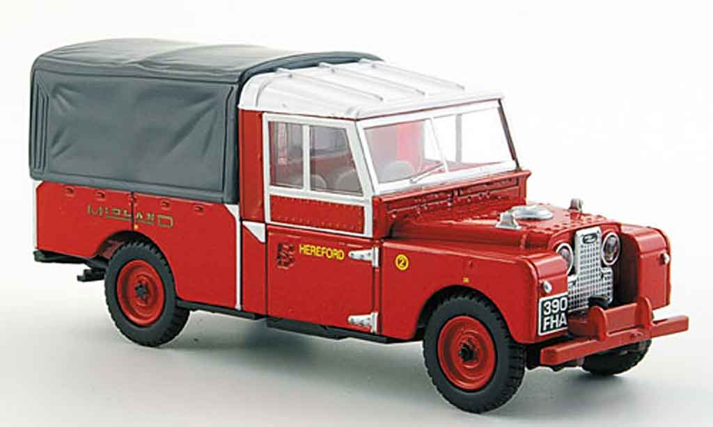 Land Rover Series 1 109 1/43 Oxford rouge Pick Up miniature