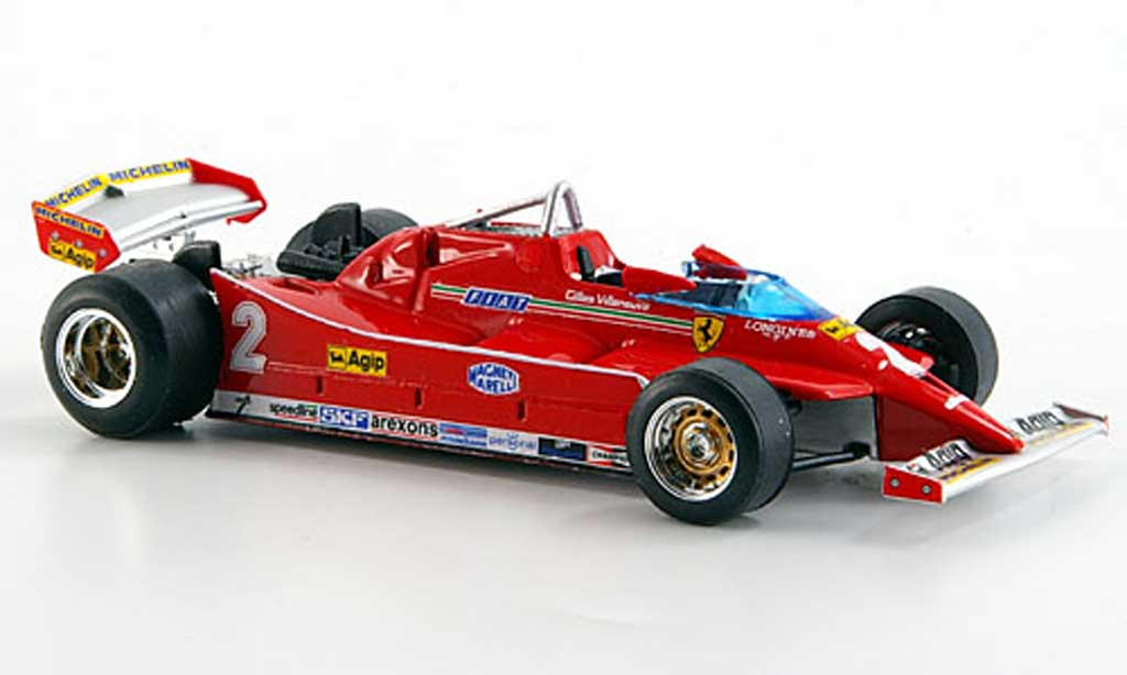 Ferrari 126 1980 1/43 Brumm C No.2 G Villeneuve Turbo Test GP Imola miniature