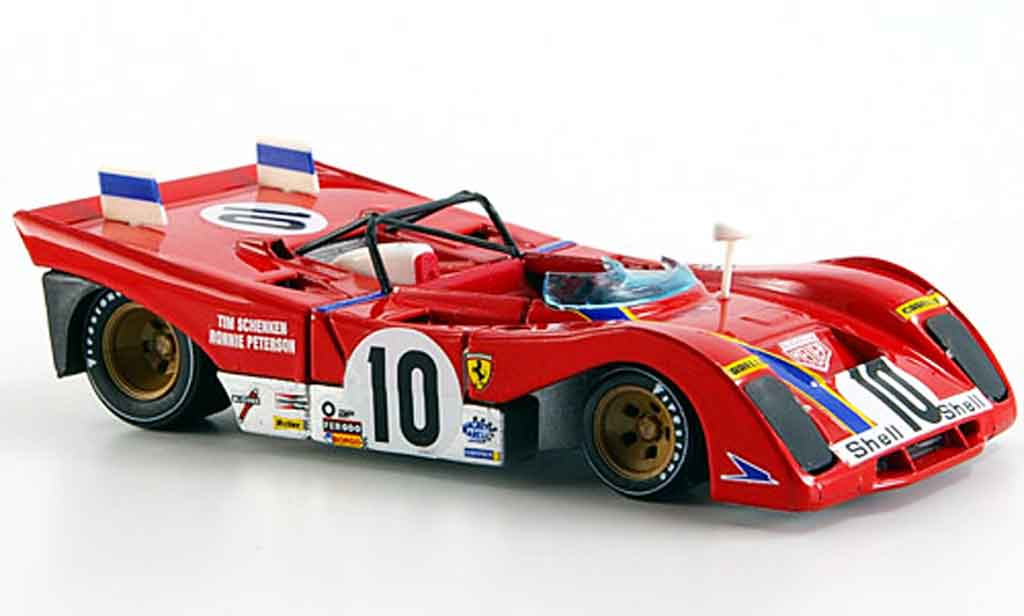 Ferrari 312 PB 1/43 Brumm no.10 peterson schenken brands hatch 1972 miniature