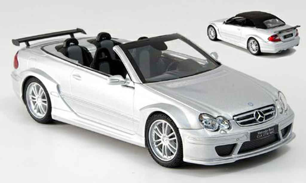 Mercedes Classe CLK DTM 1/43 Kyosho AMG grise metallisee miniature