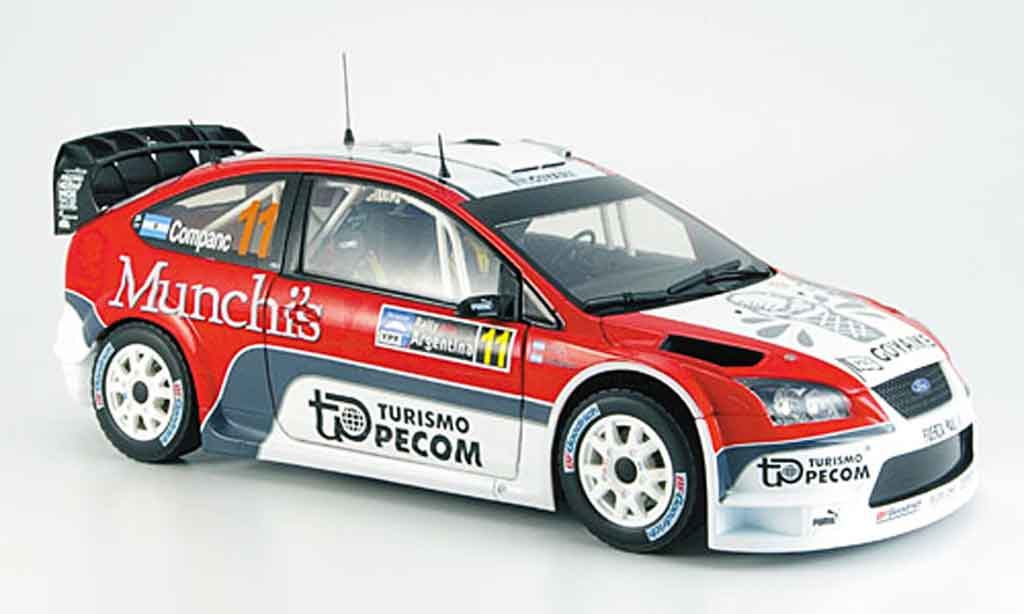 Ford Focus RS WRC 1/18 Sun Star argent perzex/ companc diecast