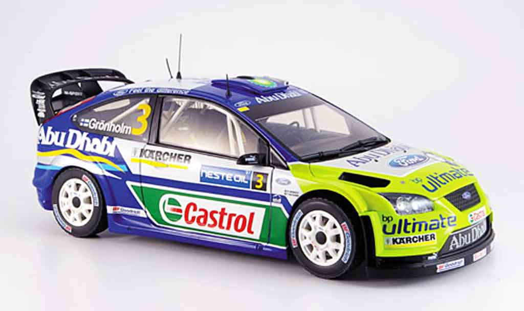 Ford Focus RS WRC 1/18 Sun Star gronholm sieger finlande miniature