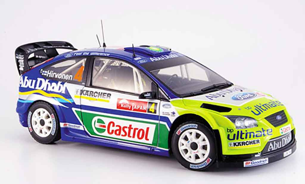Ford Focus RS WRC 1/18 Sun Star hirvonen sieger japan
