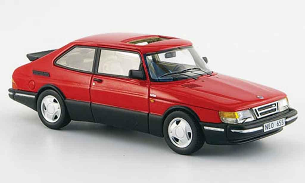 Saab 900 Turbo 1/43 Neo 16 S rouge 1992 miniature