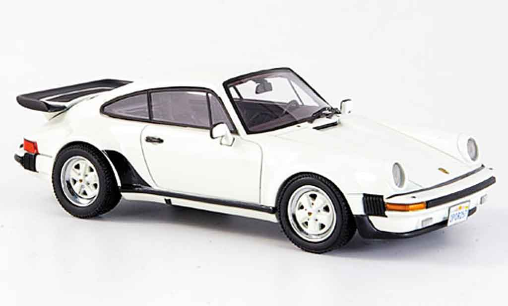 Porsche 930 Turbo 1/43 Neo US Version blanche miniature