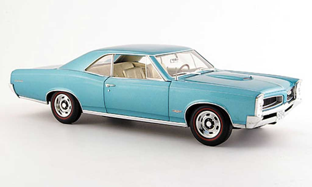 Pontiac GTO 1/18 Highway 61 grun bleu 1966 diecast model cars