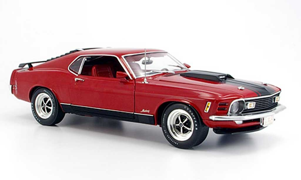 Ford Mustang 1970 1/18 Highway 61 1970 mach 1 rouge miniature
