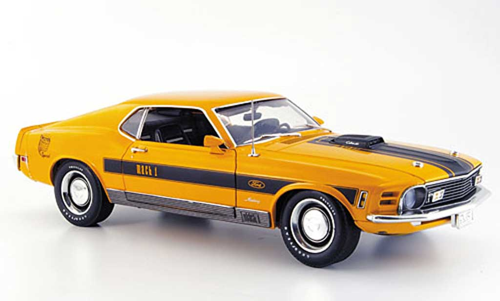 Ford Mustang 1970 1/18 Highway 61 twister special orange/noire miniature