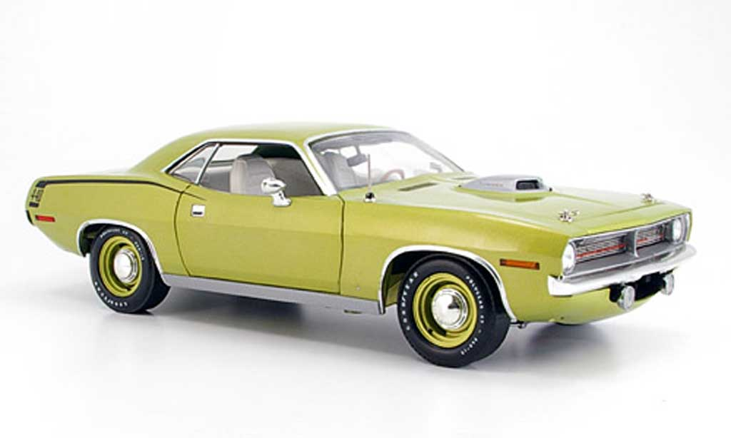 Plymouth Cuda 1970 1/18 Highway 61 grun miniature
