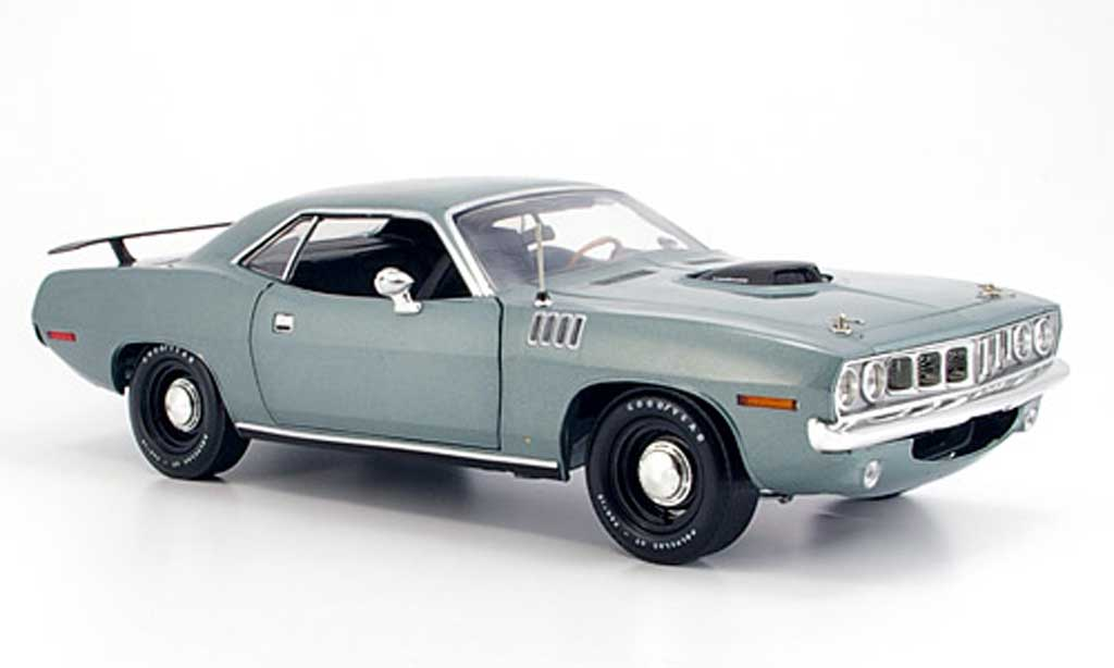 Plymouth Cuda 1970 1/18 Highway 61 grise miniature