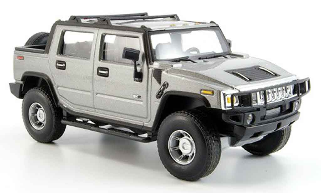 Hummer H2 1/43 Cararama SUT grey metallisee diecast model cars