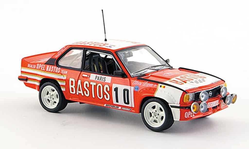 Opel Ascona B 1/43 Schuco 400 no.10 bastos rallye monte carlo 1982 miniature