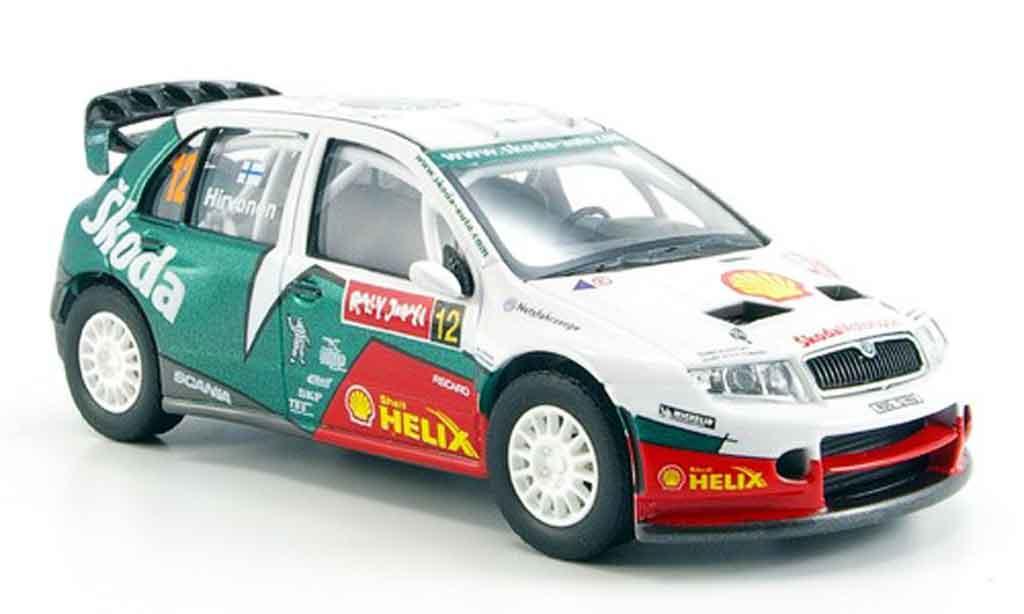 Skoda Fabia WRC 1/43 Abrex evo ii hirvonen rallye japan 2005 miniature