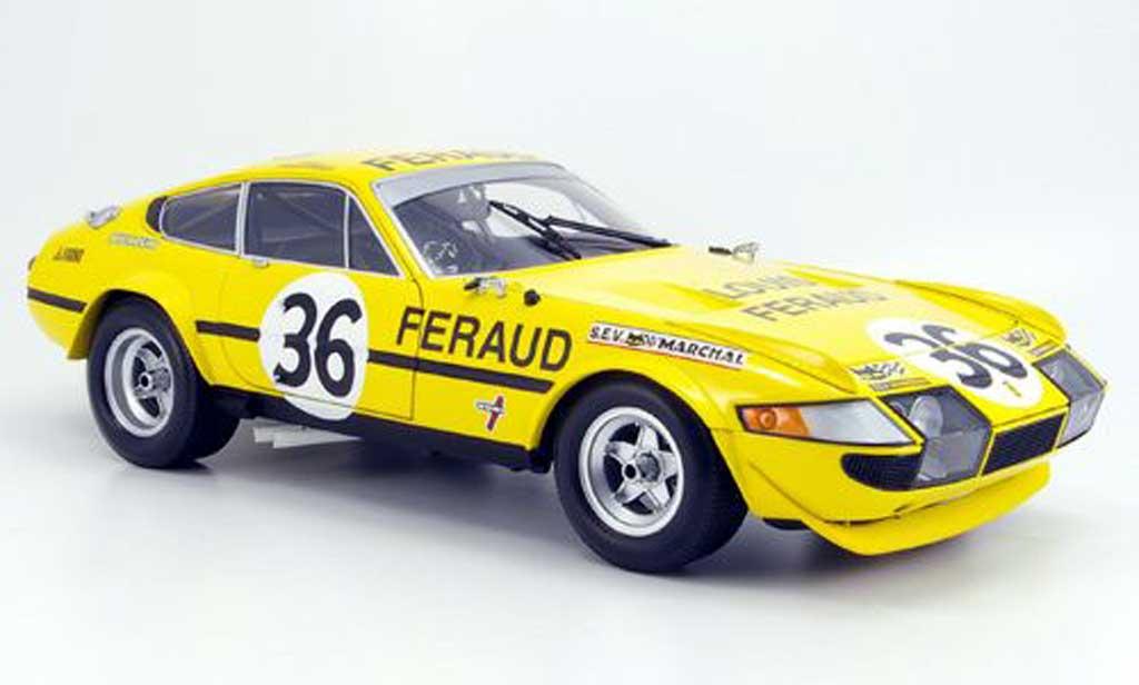 Ferrari 365 GTB/4 1/18 Kyosho no.36 feraud 24h le mans 1972 modellautos