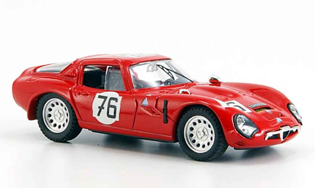 Alfa Romeo TZ2 1/43 Best no.76 de adamich zeccoli nurburgring 1966 miniature