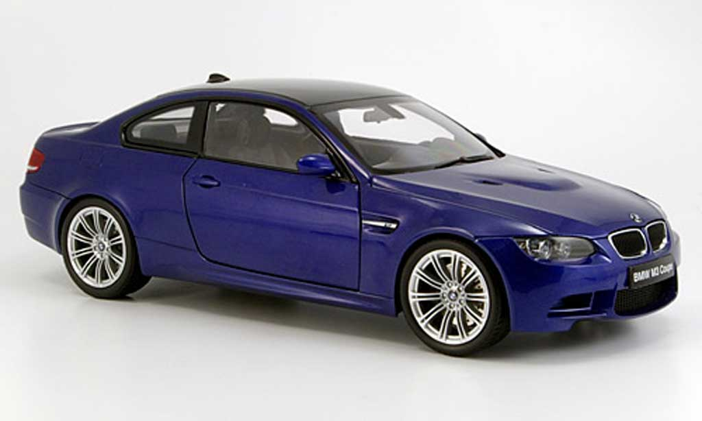 Bmw M3 E92 1/18 Kyosho coupe bleu 2006 diecast model cars