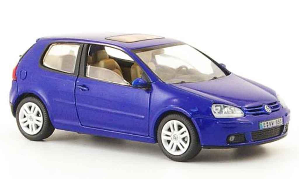 Volkswagen Golf V 1/43 Schuco bleu 3 portes miniature