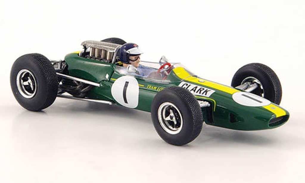 Lotus 33 1/43 Spark Climax No.1 J.Clark Sieger GP Deutschland 1965 miniature