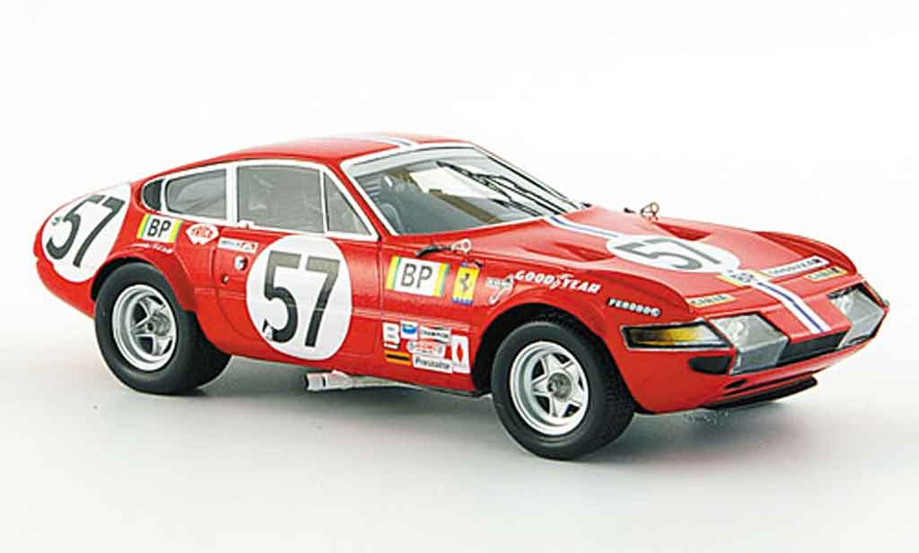 Ferrari 365 GTB/4 1/43 Red Line no.57 nart 24h le mans 1972 diecast model cars