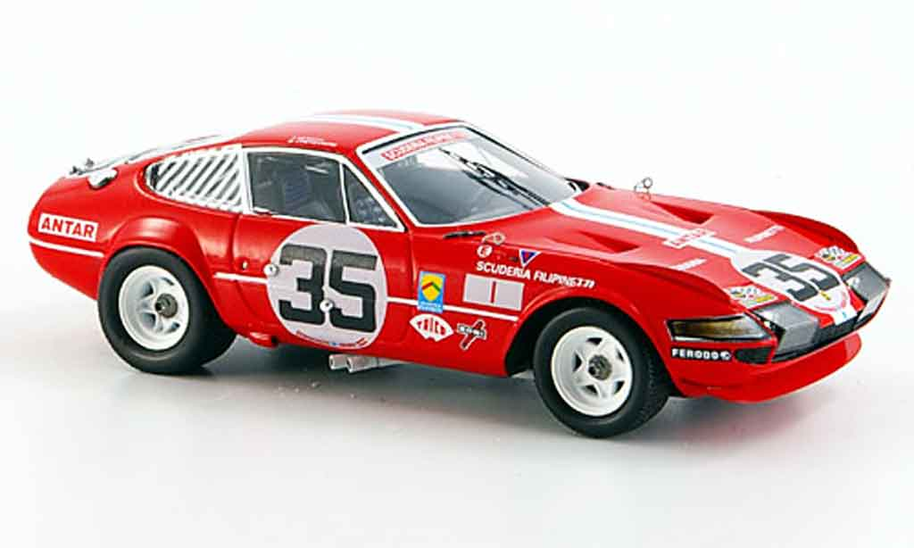 Ferrari 365 GTB/4 1/43 Red Line no.35 le mans 1972 miniature