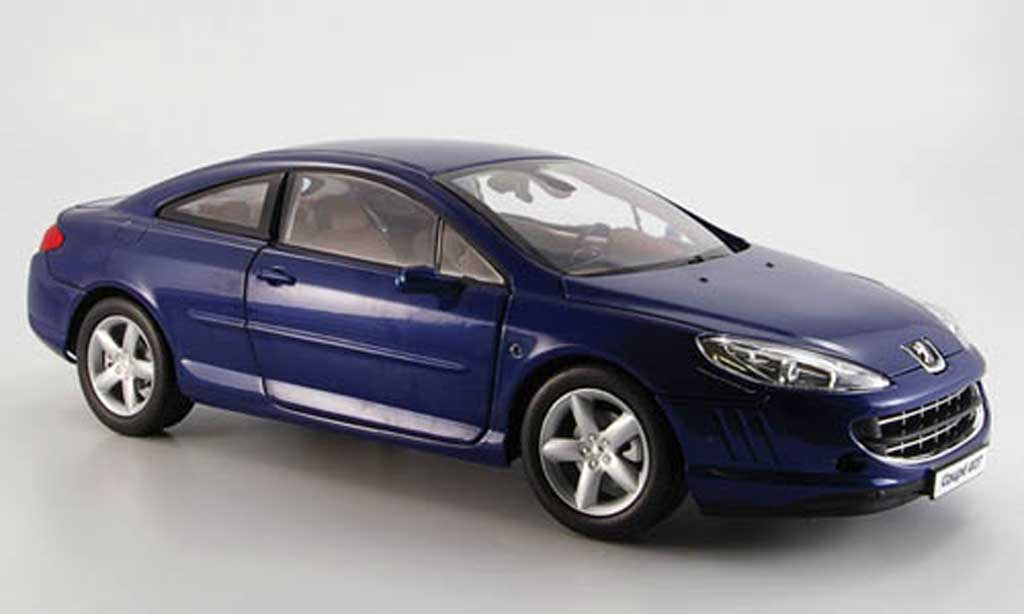 Peugeot 407 coupe 1/18 Norev bleu 2005 miniature