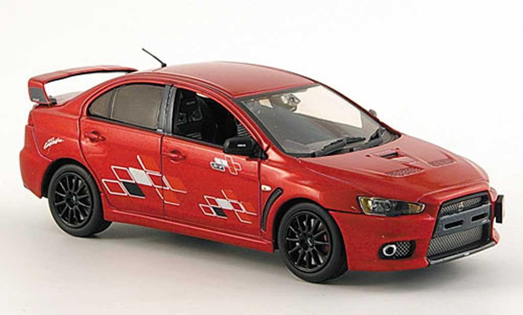 Mitsubishi Lancer Evolution X 1/43 Vitesse rouge Ralli Art 2008 miniature