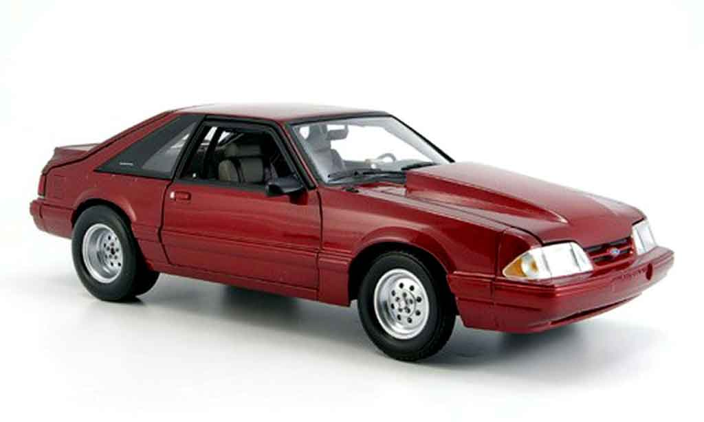 Ford Mustang 1985 1/18 GMP lx drag rouge miniature