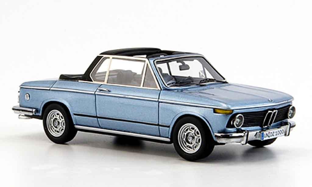 Bmw 2002 Tii 1/43 Neo E 10 Baur Cabriobleu 1974 miniature