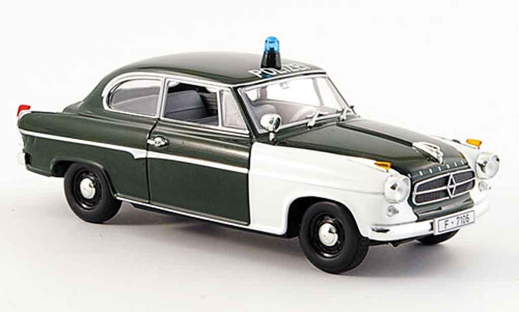 Borgward Isabella 1/43 Minichamps police Frankfurt 2turer 1959 miniature