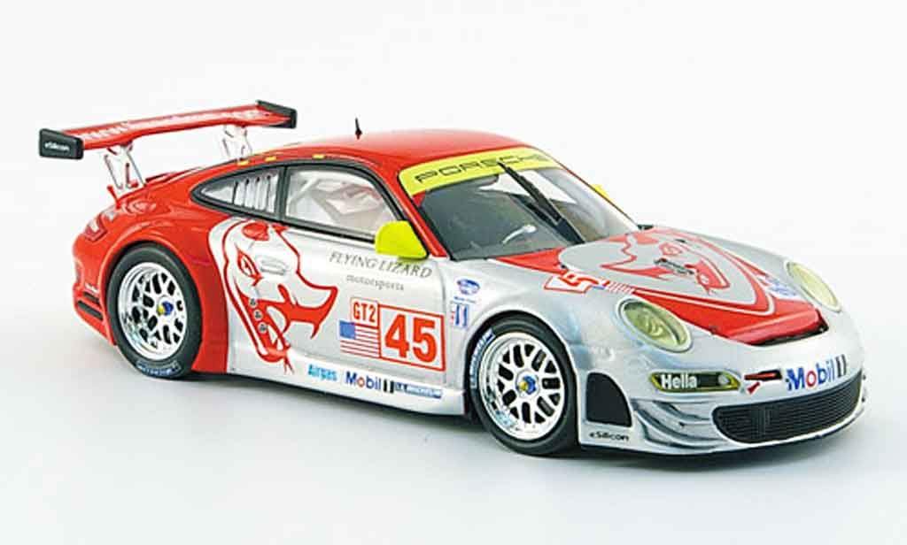 Porsche 997 GT3 RSR 1/43 Minichamps 2008 Team Flying Lizard Le Mans miniature
