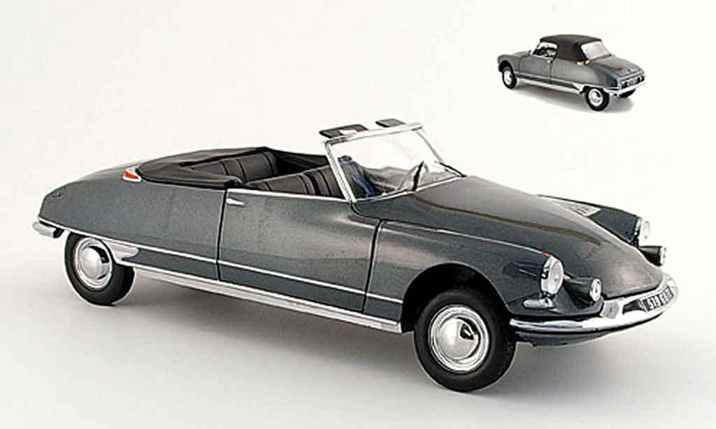 Citroen DS 19 1/18 Norev cabriolet grise 61 miniature
