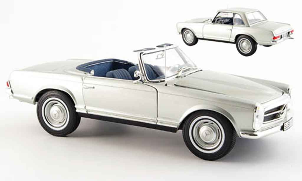 Mercedes 280 1969 1/18 Norev sl (w 113) grey metallized diecast model cars