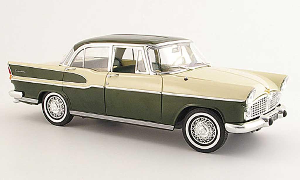 Simca Chambord 1/18 Norev green beige 1958 diecast