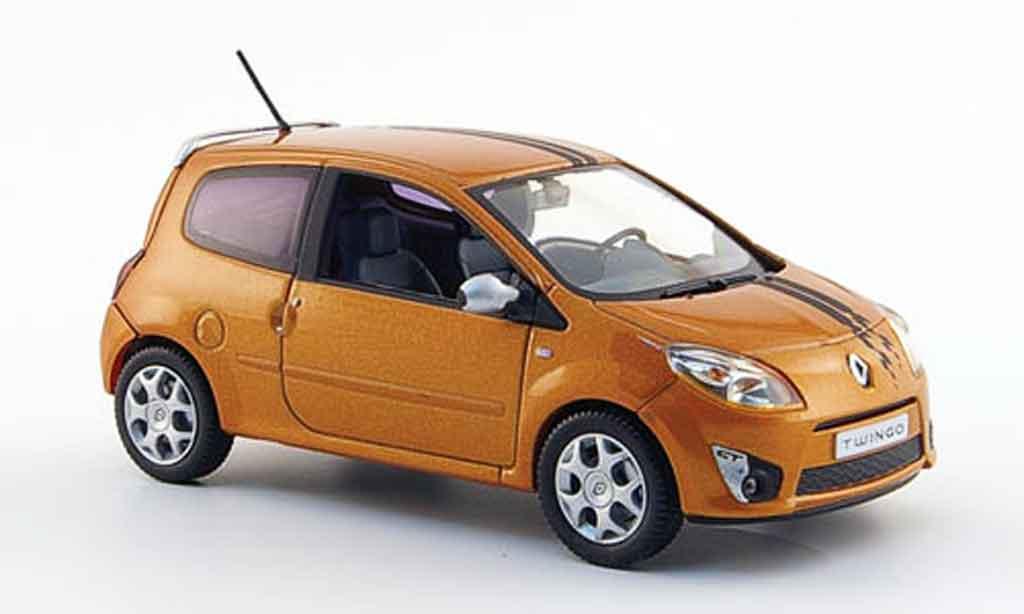 Renault Twingo 1/43 Norev gt orange 2007 diecast model cars