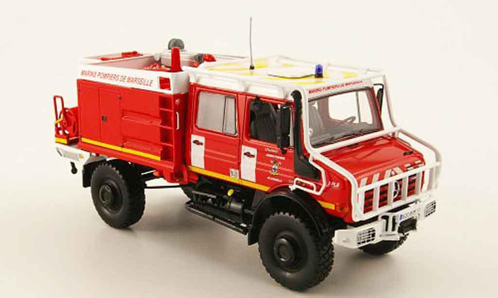 Mercedes Unimog 1/43 Norev U 5000 Pompiers de Marseille pompier miniature