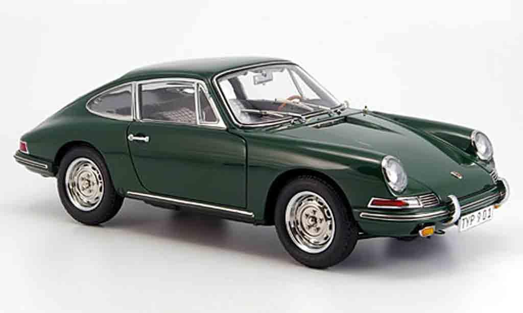 Porsche 901 1964 1/18 CMC (serie) verte innenausstattung noire miniature