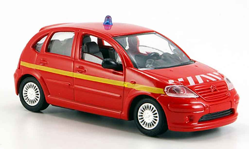 Citroen C3 1/43 Solido pompier 2002 diecast model cars