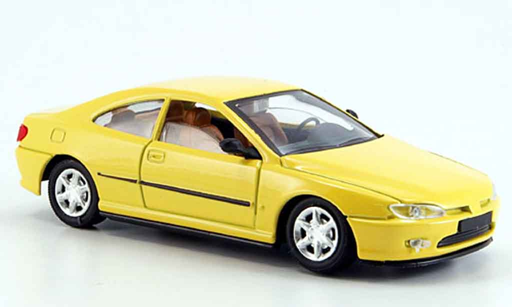 Peugeot 406 1/43 Solido coupe jaune miniature