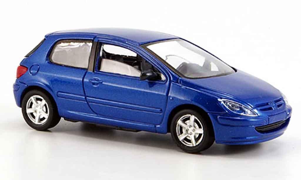 Peugeot 307 1/43 Solido bleu 3 portes