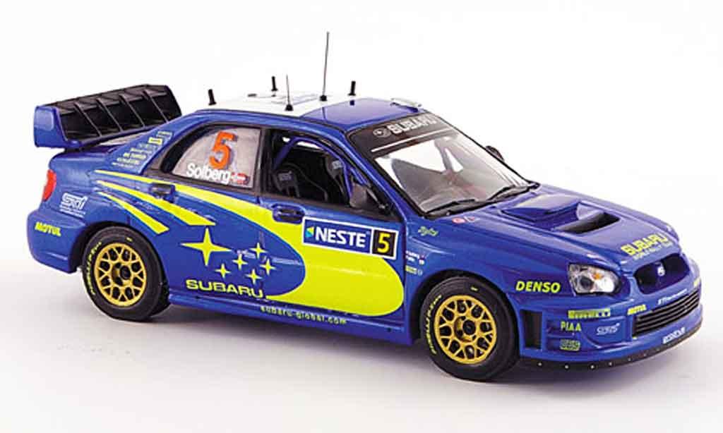Subaru Impreza WRC 1/43 IXO no.5 rallye finlande 2005 modellino in miniatura