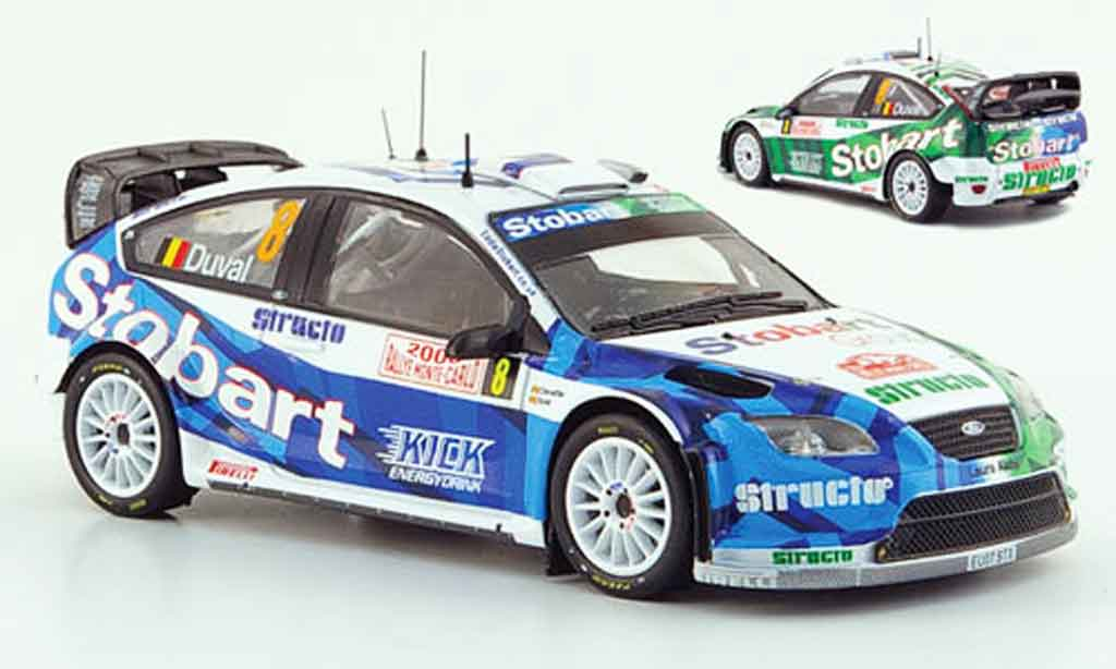 Ford Focus RS WRC 1/43 IXO 07 No.8 Structo Rally Monte Carlo 2008