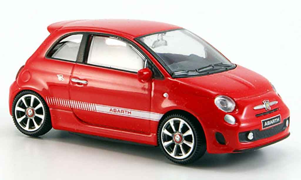 Fiat 500 1/43 Mondo Motors New Abarth red 2007 diecast model cars