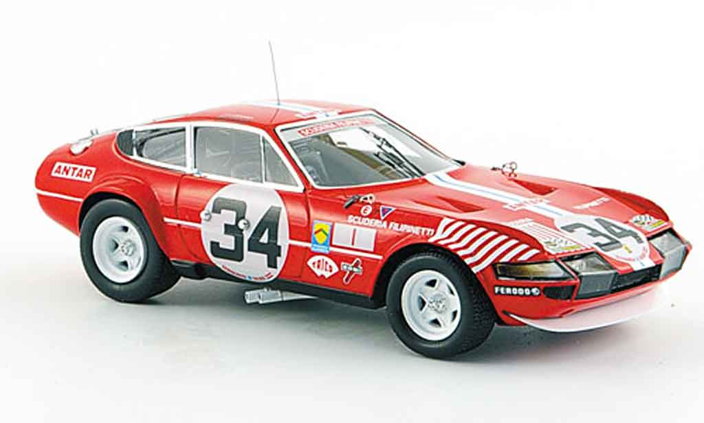Ferrari 365 GTB/4 1/43 Red Line no.34 siebter le mans 1972 diecast model cars