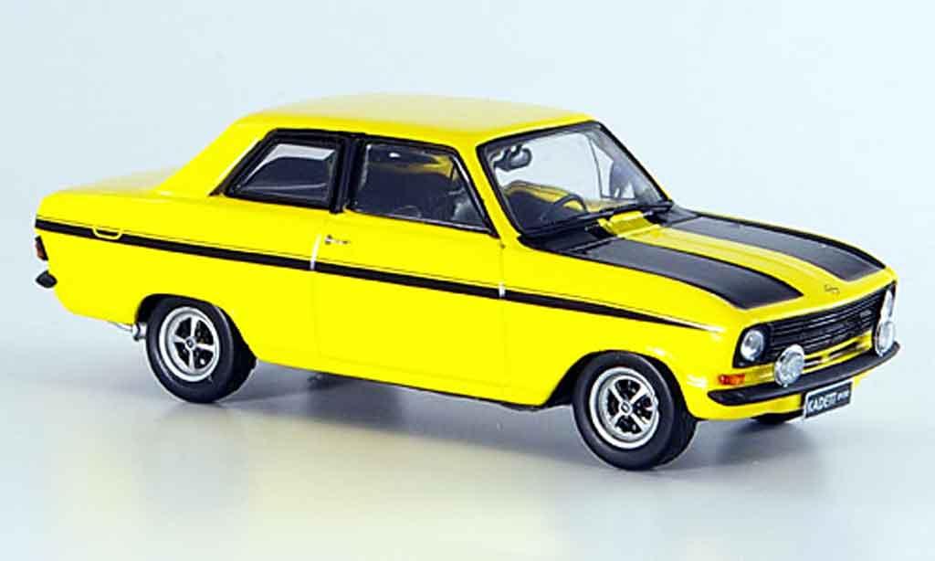 Opel Kadett B 1/43 Schuco sport jaune noire miniature