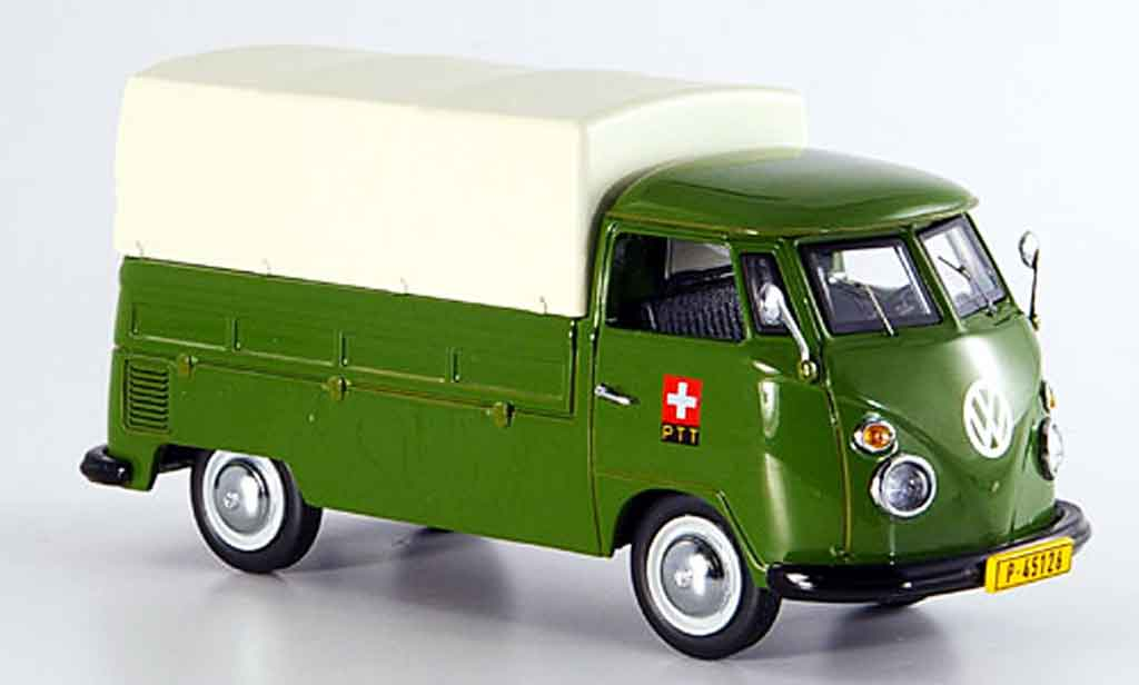 Volkswagen Combi 1/43 Schuco t 1 ptt storungsdienst pritsche plane modellautos