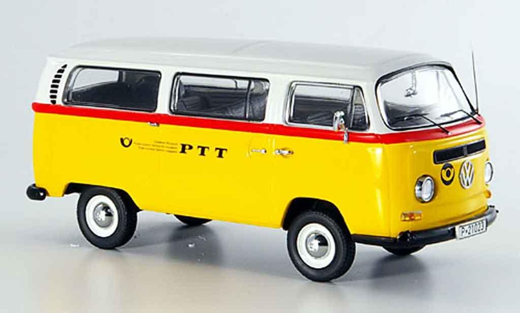 Volkswagen Combi 1/43 Schuco t2a bus ptt reisepost miniature