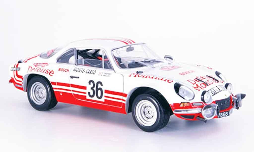 Alpine A110 1/18 Solido no.36 rallye monte carlo 1973 modellino in miniatura